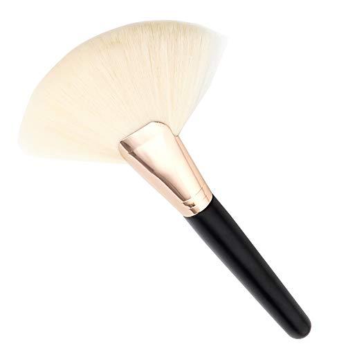 1pc maquillage pinceau cosmétique fibre de nylon grand ventilateur brosse en forme (blanc)
