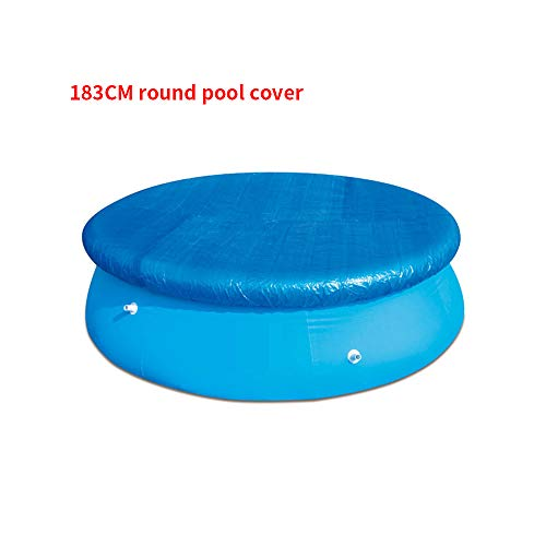 LMTXXS - Cubierta para piscina, cubiertas para desagües para bloquear las hojas, instalación fácil, antipolvo, resistente a la lluvia, duradera, Diámetro: 183 cm.
