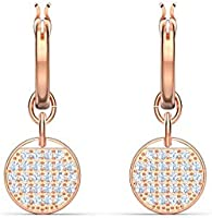 SWAROVSKI Women's Ginger Rose-Gold Tone Finish Necklace & Earrings Clear Crystal Jewelry Collection
