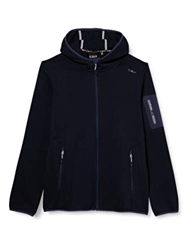 CMP – F.LLI Campagnolo Damen Knit Tech Polyester-Strickfleecejacke mit Kapuze Fleecejacke, B.Blue-Grey, D44