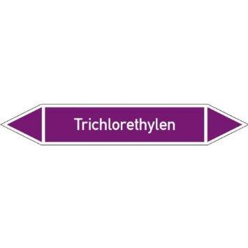 INDIGOS UG - Rohrleitungskennz/Pfeilschild Laugen(violett),selbstklebende Folie22,3x3,7cm - Trichlorethylen - Warnung - Sicherheit - Hotel, Firma, Haus