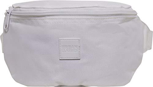 Urban Classics Gürteltasche mit Logo Patch, Hip Bag Mixte, Blanc, Taille Unique