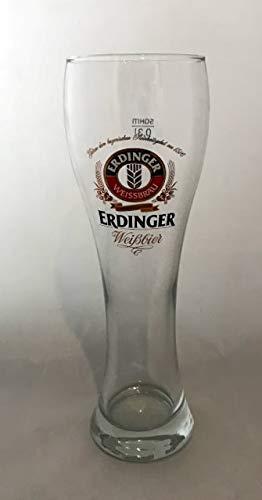 Erdinger Weissbier 0,3l Glas/Gläser, Markenglas, Bierglas NEU + anygoods Flaschenausgiesser