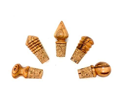 5 Flaschenkorken aus Olivenholz handgefertigt auf Mallorca Wein Korken Stöpsel