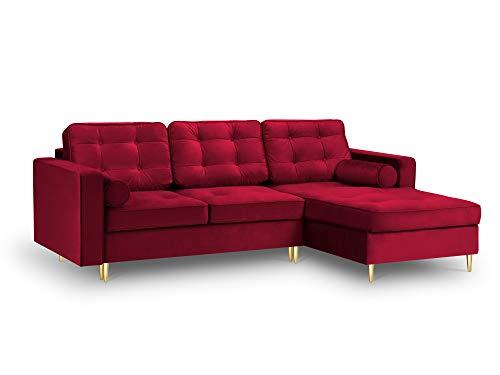 Canapé d'angle 4 places Rouge Velours