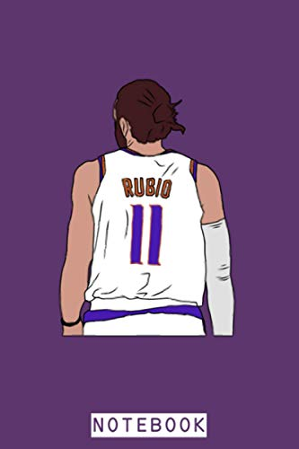 Ricky Rubio Back To Notebook: Diary, 6x9 120 Pages, Matte Finish Cover, Planner, Journal, Lined College Ruled Paper
