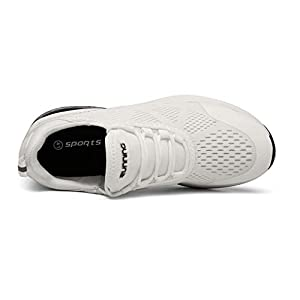 SKDOIUL Jogging Shoes for Men Tennis Breathable Casual Gym Athletic White Sneakers Size 12 Runner mesh Comfort Trail Running Jogging for Workout
