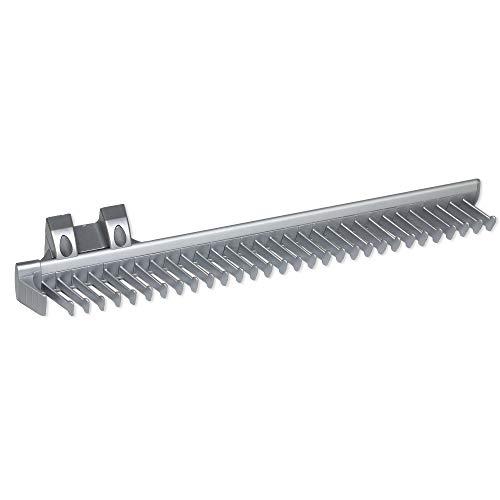 Emuca - Porta Cravatte Laterale Estraibile per Armadio, Alluminio e plastica, Anodizzato Opaco