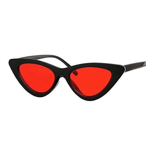 FRGH Gafas De Sol De Ojo De Gato Rojas Sexis para Mujer, Gafas De Sol De Moda para Mujer, Pequeños Puntos Blancos Y Negros