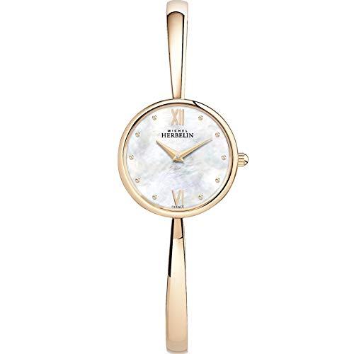 Michel Herbelin Brazalete de Oro Rosado de Las señoras Reloj de Oro Rosa 17408/BPR19