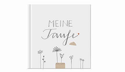 Gästebuch - meine Taufe - weiß mit Blumen, Taufbuch für Tauffeier, Tauffest, als Taufgeschenk,...