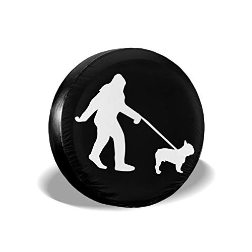 Bosb-00 Bigfoot Walking French Bulldog-1 Spare Tire Covers for Trailer Jeep RV Ect.