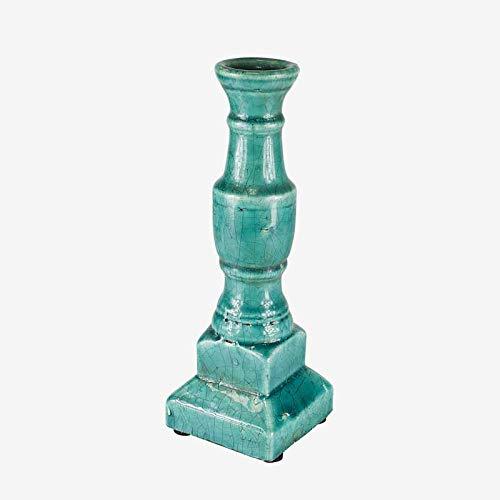 Better & Best 2662614 kandelaar van keramiek, blauw/turquoise