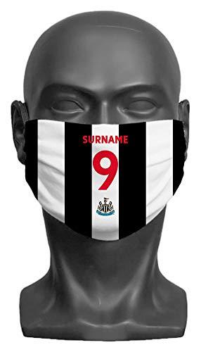 Personalised Newcastle United FC Back Of Shirt Adult Face Mask (Medium)