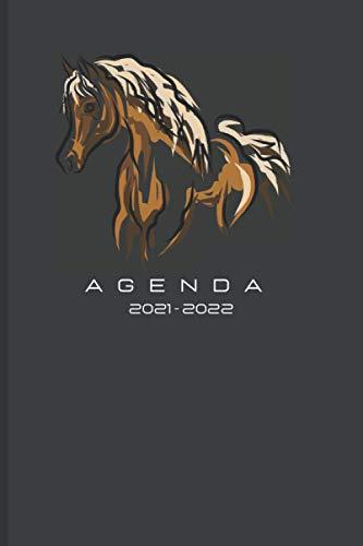 Agenda 2021 - 2022 Cavalli: Planner Giornaliero, Mensile. Gennaio 2021 a dicembre 2021 con Calendari, To-Do, Contatti Pasti, Compleanno, Password, Lista Spesa etc.. 338 pagine - 15.24 x 22.86cm