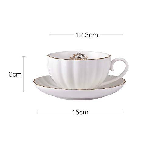 MSNLY Einfache europäische Art Teetasse Kaffeetasse Europäische kleine Elegante nach Hause englische Nachmittag Keramik Single mit Untertasse Tasse Set