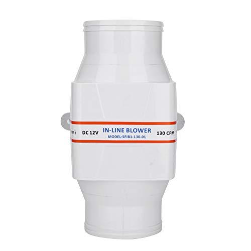 Ventilador de salida de aire, silencioso, potente y potente sistema de ventilación para habitaciones, baños, cocinas (Ø100 mm), color blanco (21,70 x 13,70 x 12,00 cm))