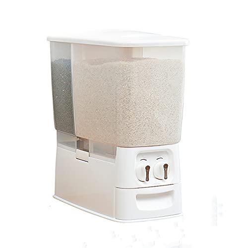 N / B Cocina Mensurable Automático Dispensador de Arroz Grano Contenedor de Almacenamiento, Caja de Almacenamiento, Saludable y Anti-Moisture-Proof