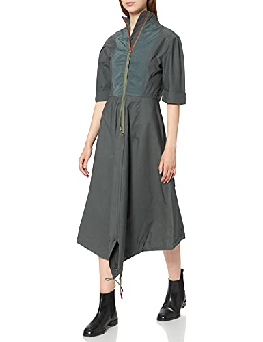 G-STAR RAW Fishtail Vestido Casual, Gris (Graphite A790-996), S para Mujer