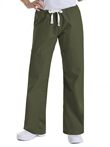Urbane Essentials 9502 Relaxed Drawstring Pant Olive XS