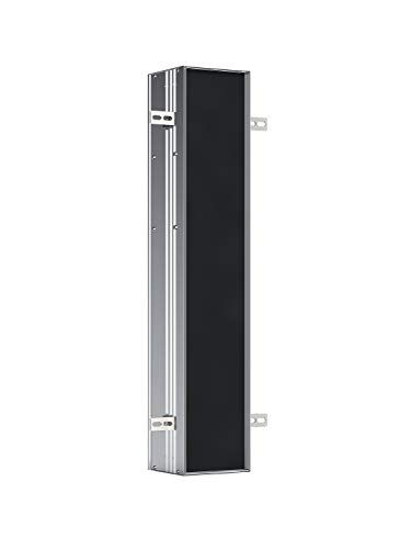 Emco Asis Plus Unterputz Toilettenpapierhalter, Alurahmen, Einbauschrank, Türanschlag rechts  - 975611001