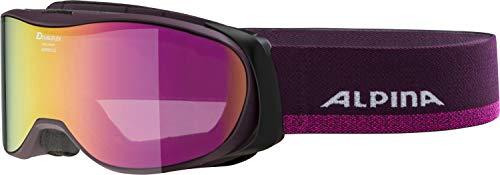 ALPINA BONFIRE 2.0 Skibrille, Unisex– Erwachsene, deepviolet, one size