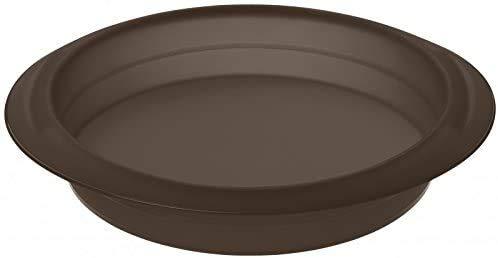 Lurch 85001 FlexiForm Rund / runde Backform aus 100% BPA-freiem Platin Silikon, ø 26 cm, braun