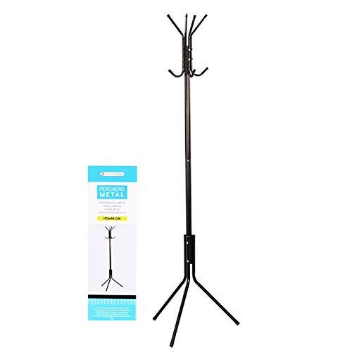 Hersig - Perchero de pie multifunciones, Fabricado en metal muy resistente 170 x 48 cm