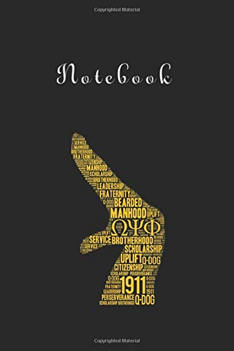 Notebook: Mens Omega 1911 Psi Phi Hand Sign116 Pages Notebook 6in x 9in White Paper Blank with Black Cover for Kids or Friends Best Gift for Love Ones