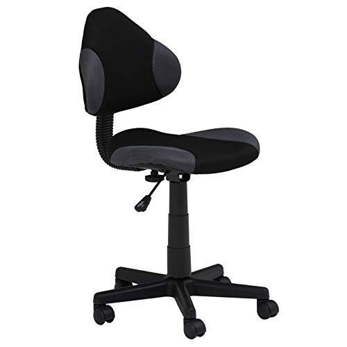 IDIMEX Kinderdrehstuhl Schreibtischstuhl Drehstuhl Alondra, schwarz/grau