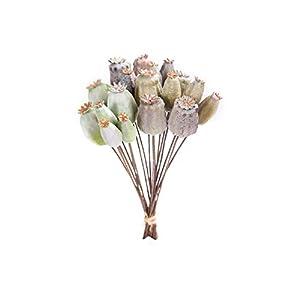 18Pcs Artificial Plant Flower Arrangement Supplies, Fake Poppies for Hotel Home Decoration (11 Inch)