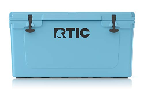 RTIC Ice Chest Hard Cooler, Heavy Duty Rubber Latches, 3 Inch Insulated Walls, 65 Quart, Blue