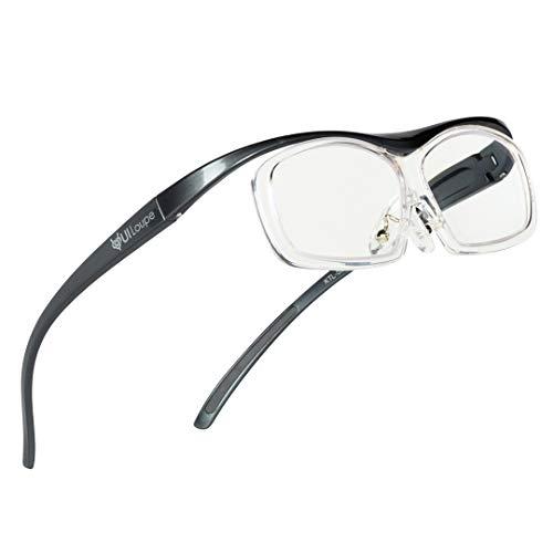Kenko メガネ型拡大鏡 YUIルーペ レンズ交換式 レギュラーサイズ 倍率1.6倍 グレー KTL-5101R-GR