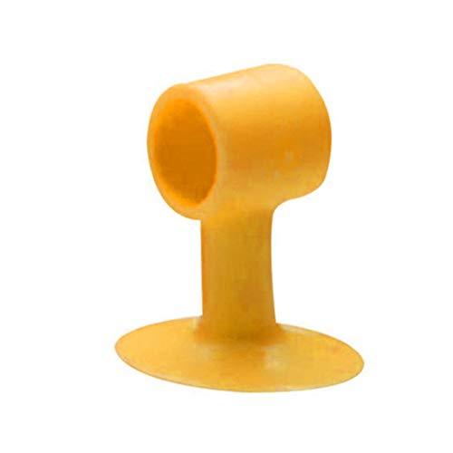 Preisvergleich Produktbild Vige Silikonstopper Türgriff Anti-Kollisions-Schutzwand Gummiauflage - Orange