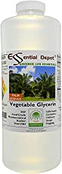 Glycerin Vegetable - 1 Quart (43 oz.) - Non GMO - Sustainable Palm Based - USP - KOSHER - PURE - Pharmaceutical Grade