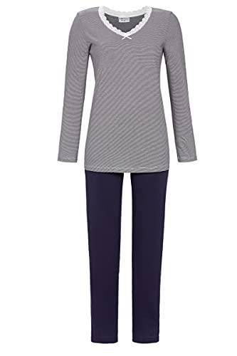 Ringella Lingerie Damen Pyjama mit V-Ausschnitt Dark Navy 42 1561205,Dark Navy, 42