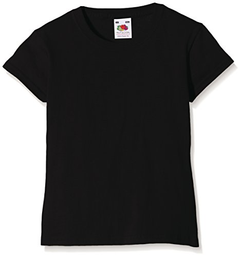 Fruit of the Loom SS079B, Camiseta Para Niños, Negro (Black), 12/13 Años