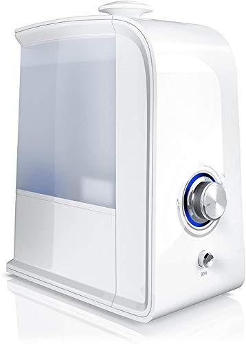 Luftbefeuchter 3 5 Liter inkl. Ionisierung - Wasserfilter - Raumbefeuchter Luftreiniger - Ultraschalltechnologie - Geruchsneutralisierung Ionisierung