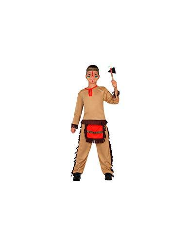 DISBACANAL Disfraz Indio marrn para nio - -, 7-9 aos