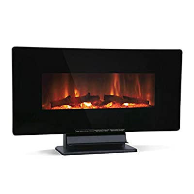 "HCY -36"" Electric Fireplace Heater, LED Control Panel with Adjustable Flame Color, Wall Mounted or Freestanding, 700W/1500W Room, Electronic Heater, Living Room Bedroom Entertainment Center"