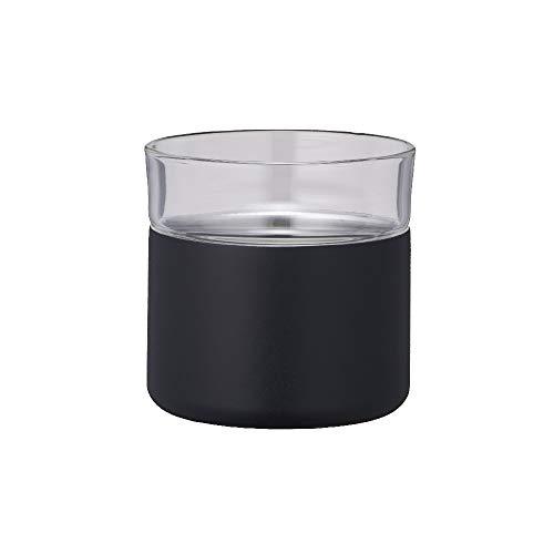 ドウシシャタンブラーハイブリッド真空断熱二重構造300ml飲みごろほろりブラック