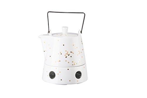 Arzberg Sternenzauber Teekanne 3-teilig, 6 Personen, 1,10 L, Porzellan, Weiß, 17 x 17 x 15 cm
