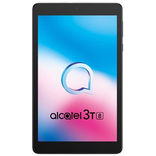 Alcatel 3T 8  4G - Tablet Quad Core, Camera, memoria 32 GB espandibile, 2 GB Ram, Android 10, Black [Italia]