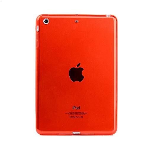 RZL PAD & TAB cases For iPad MI-NI 7.9'', Soft Crystal Clear Tablet Case TPU Clear Transparent Bumper Cover for iPad MI-NI 2 MI-NI 3 (Color : Red)