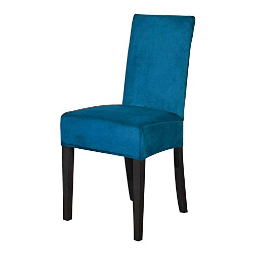 LBY Hoher Grad Velvet Dining Chair Abdeckung Spandex Büro Esszimmer Stuhlbezug Stuhl Fall for Stühle Elastic Stretch (Color : Teal Blue, Specification : Universal)