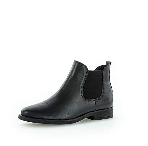 Gabor Damen Stiefeletten, Frauen Chelsea Boots,Comfort-Mehrweite,Reißverschluss, Women's Woman Freizeit Stiefel,schwarz (Micro),42.5 EU / 8.5 UK