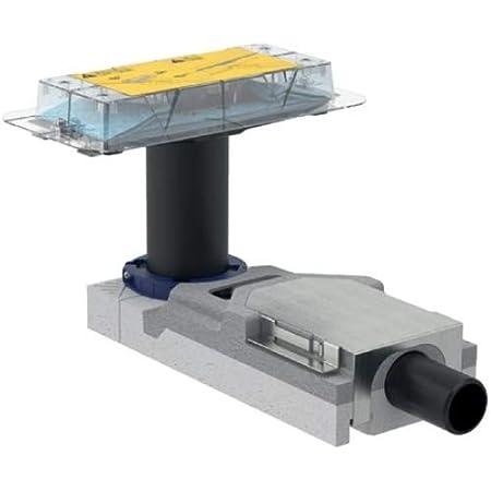 Geberit 154.152.00.1 Juego de instalación para Canales de Ducha de la línea CleanLine, para Altura de solado en la Entrada 65–90 mm: d=40mm