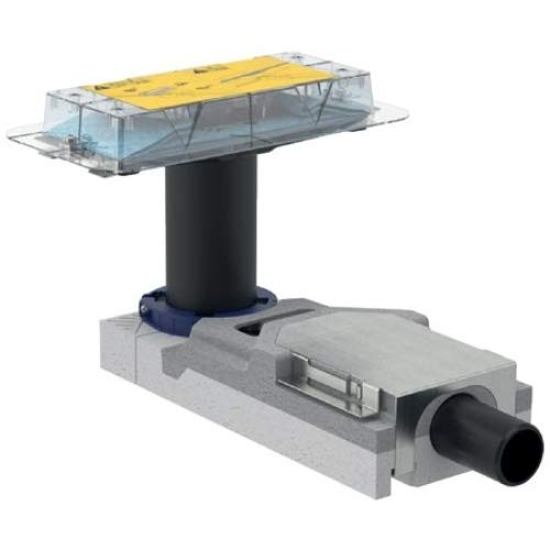 Geberit 154152001Duschrinnen Rohbauset CleanLine d40 H65, Ø 40 mm, für Höhe 65 mm