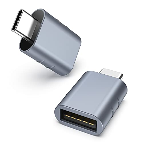 Syntech USB C to USB Adapter Pack of 2 USB C Male to USB3 Female Adapter Compatible with iMac 2021 iPad Pro 2021 MacBook Pro 2020 MacBook Air 2020 and Other Type C or Thunderbolt 3 Devices Blue