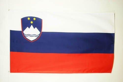 AZ FLAG Flagge SLOWENIEN 90x60cm - SLOWENISCHE Fahne 60 x 90 cm - flaggen Top Qualität
